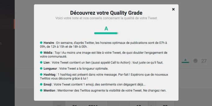 """""""Quality Grade"""" : boostez l'engagement de vos followers grâce à notre coach"""