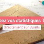 Mesurez l'efficacité de vos stratégies Twitter grâce à vos statistiques Swello !