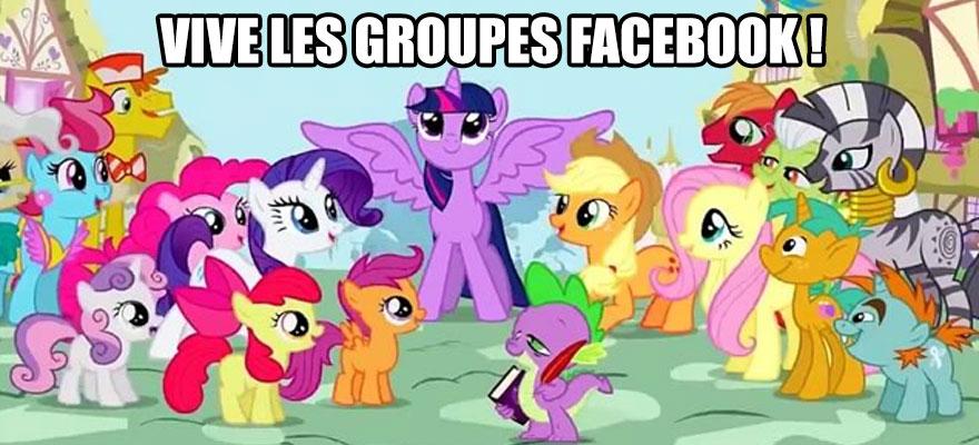 creer un groupe facebook avec les petits poneys
