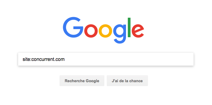 Analyser ses concurrents - Recherche Google