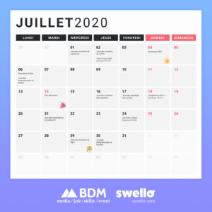 Calendrier Marketing Juillet 2020