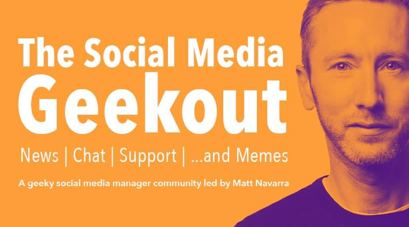 The Social Media Geek Out